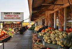 Verse markt langs weg in Wisconsin, de V.S. Stock Afbeelding