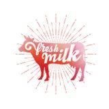 Verse melk Kleurrijke vector royalty-vrije illustratie