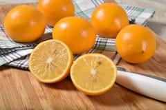 Verse Meyer-citroenen stock afbeeldingen