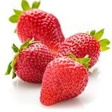Verse natuurlijke aardbeien op witte achtergrond Royalty-vrije Stock Fotografie