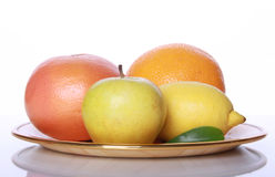 Verse nuttige vruchten op spiegellijst Stock Afbeelding