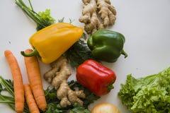 Verse oogst op wit Stock Fotografie