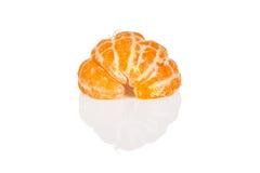 Verse oranje mandarin of mandarijn op wit Royalty-vrije Stock Foto