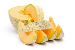 Verse oranje meloen royalty-vrije stock fotografie