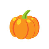 Verse oranje pompoen vectorillustratie Stock Foto's