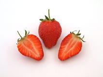 Verse organische aardbeien. Stock Foto's