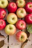 Verse organische appelen Stock Afbeelding