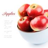 Verse organische appelen in een kom Royalty-vrije Stock Foto