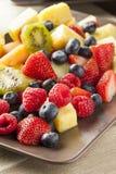 Verse Organische Fruitsalade stock foto's