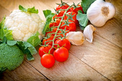Verse organische groenten Royalty-vrije Stock Foto's