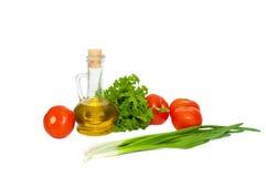 Verse organische groenten die op wit worden geïsoleerdG Royalty-vrije Stock Afbeelding