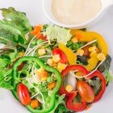 Verse organische plantaardige salade Royalty-vrije Stock Fotografie