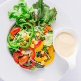Verse organische plantaardige salade Stock Foto