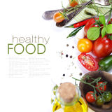 Verse organische tomaten Stock Fotografie