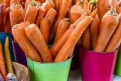 Verse Organische Vruchten en Groenten bij Landbouwersmarkt Stock Foto's