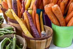 Verse Organische Vruchten en Groenten bij Landbouwersmarkt Royalty-vrije Stock Fotografie
