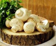 Verse paddestoelen (champignons) stock afbeelding