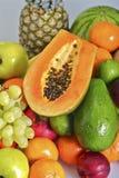 Verse Papaja en Vruchten Stock Afbeeldingen