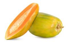 Verse Papajavruchten op wit royalty-vrije stock foto's