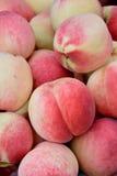 Verse perzik in mooie kleur Royalty-vrije Stock Foto