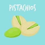 Verse pistaches op blauwe achtergrond Royalty-vrije Illustratie