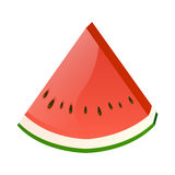 Verse plak van watermeloen Stock Fotografie