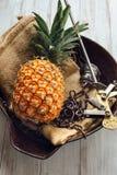 Verse rijpe ananas Royalty-vrije Stock Afbeeldingen