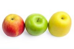 Verse rijpe appelen Royalty-vrije Stock Afbeeldingen