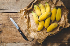 Verse rijpe bananen Stock Afbeelding