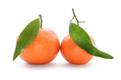 Verse, rijpe citrusvrucht, die op witte achtergrond wordt geïsoleerd Stock Foto's
