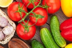 Verse rijpe groentenclose-up stock fotografie
