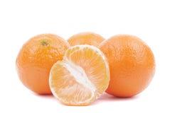 Verse rijpe mandarijnen Royalty-vrije Stock Afbeelding