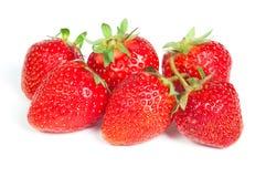 Verse rode aardbeien Royalty-vrije Stock Foto's