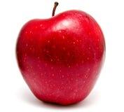 Verse rode appel die op wit wordt geïsoleerd Stock Afbeeldingen