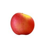 Verse rode appel die op wit wordt geïsoleerd Met het knippen van weg Stock Foto