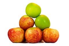 Verse rode en groene appelen Stock Foto's