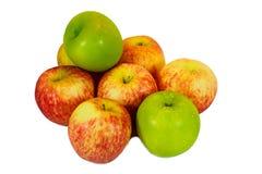 Verse rode en groene appelen Royalty-vrije Stock Foto