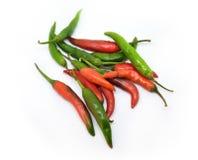 Verse rode en groene Spaanse peperpeper Royalty-vrije Stock Foto's