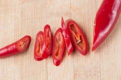 Verse rode Spaanse peper Royalty-vrije Stock Afbeeldingen
