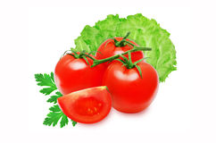 Verse rode tomaten Stock Afbeelding