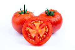 Verse rode tomaten royalty-vrije stock foto's