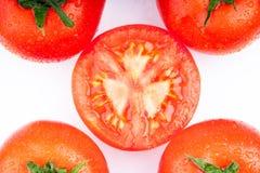 Verse rode tomaten royalty-vrije stock afbeelding