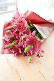Verse roze lelies Stock Foto's
