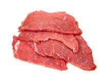 Verse rundvleesschnitzel stock afbeeldingen
