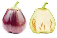 Verse ruwe geïsoleerde aubergine Stock Fotografie