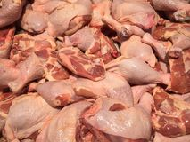 Verse Ruwe Kippentrommelstokken, Ruwe Kippenbenen op Voedsel Backgroun Royalty-vrije Stock Fotografie