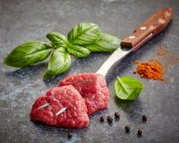 Verse ruwe vleesbesnoeiingen royalty-vrije stock foto