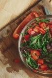 Verse salade Royalty-vrije Stock Foto's