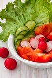 Verse salade in de kom Stock Foto's