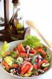 Verse salade en olie royalty-vrije stock fotografie